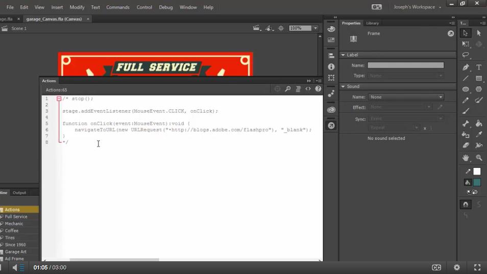 Adobe Animate CC cursus