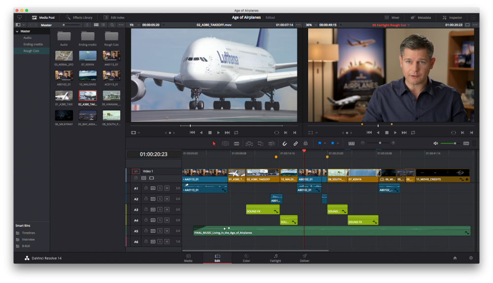 DaVinci Resolve Editing